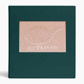 IXTHUS Christian Fish Symbol - Copper Binder