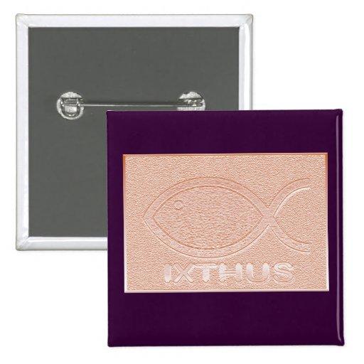 IXTHUS Christian Fish Symbol - Copper Pins