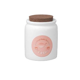 IXTHUS Christian Fish Symbol - COPPER Candy Jars