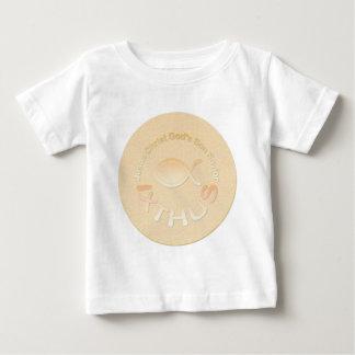 IXTHUS Christian Fish Symbol - GOLD Baby T-Shirt