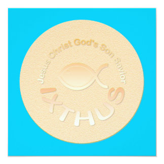 IXTHUS Christian Fish Symbol - GOLD Card