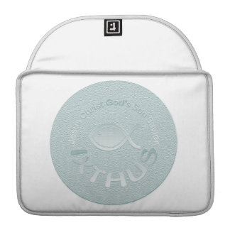 IXTHUS Christian Fish Symbol - SILVER Sleeves For MacBook Pro
