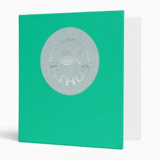IXTHUS Christian Fish Symbol - SILVER Vinyl Binder