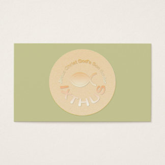 IXTHUS Christian Fish Symbol - Tract Card /