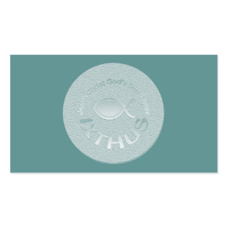 IXTHUS Christian Fish Symbol - Tract Card / Business Cards