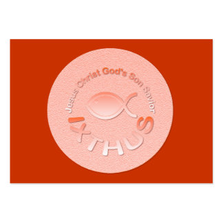 IXTHUS Christian Fish Symbol - Tract Card / Large Business Card