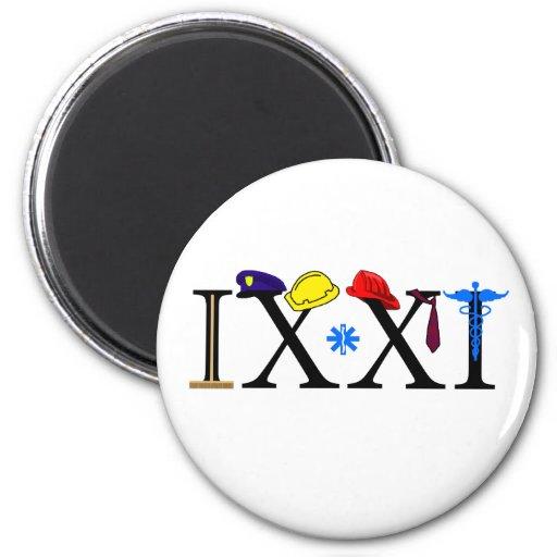 IXXI recuerde 9-11 Imán Para Frigorifico