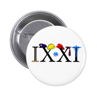 IXXI recuerde 9-11 Pin Redondo De 2 Pulgadas