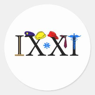 IXXI  Remember 9-11 Classic Round Sticker
