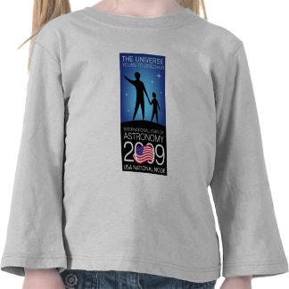 IYA2009 - Nodo de los E.E.U.U.: Manga larga del Camiseta