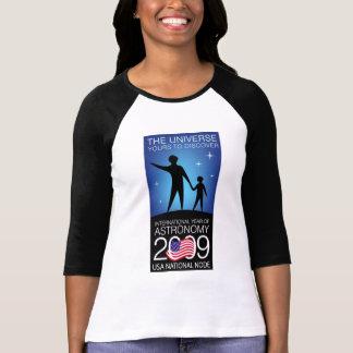 IYA2009 - Nodo de los E E U U Señoras 3 4 manga Camiseta
