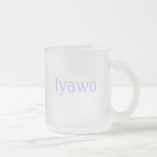 Iyawo Frosted Glass Coffee Mug