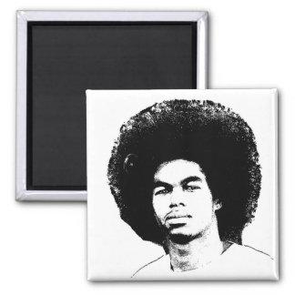 "Iyayi Afro 2"" Square Magnet"