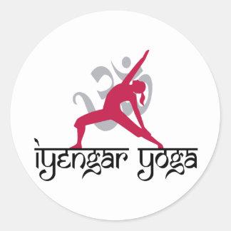 Iyengar Yoga Pose Classic Round Sticker
