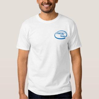 iYikKam inside blue breast pocket and logo t-shirt