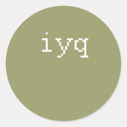 iyq classic round sticker