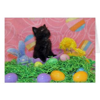 Iz Da Easter Bunny Here Yet Greeting card