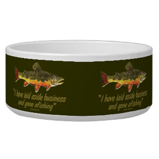 Izaak Walton Fishing Quote Bowl