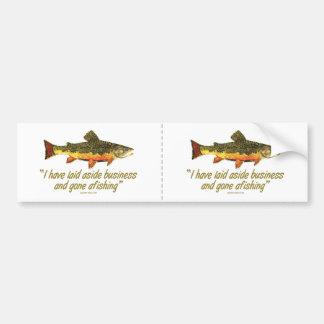 Izaak Walton Fishing Quote Bumper Sticker