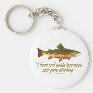 Izaak Walton Fishing Quote Keychain