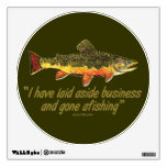 Izaak Walton Fishing Quote Wall Graphics