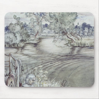 Izaak Walton reclining against a Fence Mouse Pads