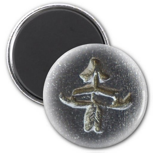 Izhevsk bow and arrow 2 inch round magnet
