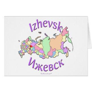Izhevsk Rusia Tarjeta De Felicitación