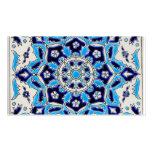 İznik Blue and white flowers ceramics tile Business Card