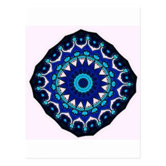 Iznik blue, white, and turquoise tile, Turkey, Postcard