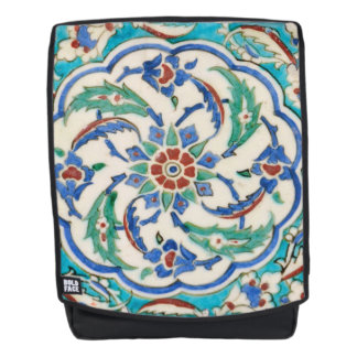 iznik ceramic tile from Topkapi palace Backpack