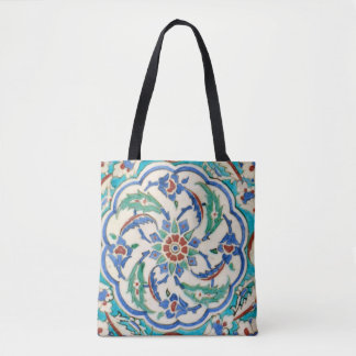iznik ceramic tile from Topkapi palace Tote Bag