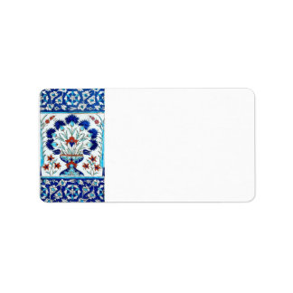 Iznik ceramics custom address labels
