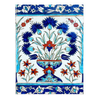 Iznik ceramics postcard