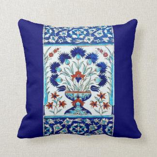 Iznik ceramics throw pillow