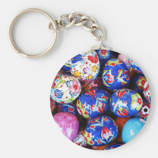 Iznik Design Ceramic Eggs Keychain