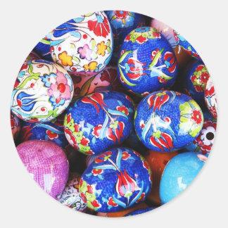 Iznik Design Ceramic Eggs Classic Round Sticker