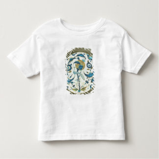 Iznik dish painted with a peacock perched among fl toddler t-shirt