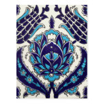 Iznik Floral Ethnic Tribal Turkish Mosaic Pottery Post Cards