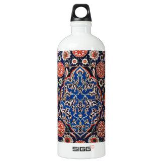 Iznik Floral Ethnic Tribal Turkish Mosaic Pottery Water Bottle