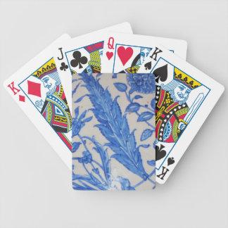 Iznik Ottoman Era Blue and White Tile Bicycle Playing Cards