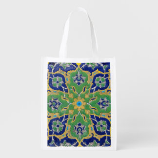 iznik tile grocery bag