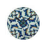 Iznik Tile Oriental Design Wall Clocks