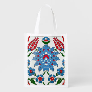 iznik tile reusable grocery bag