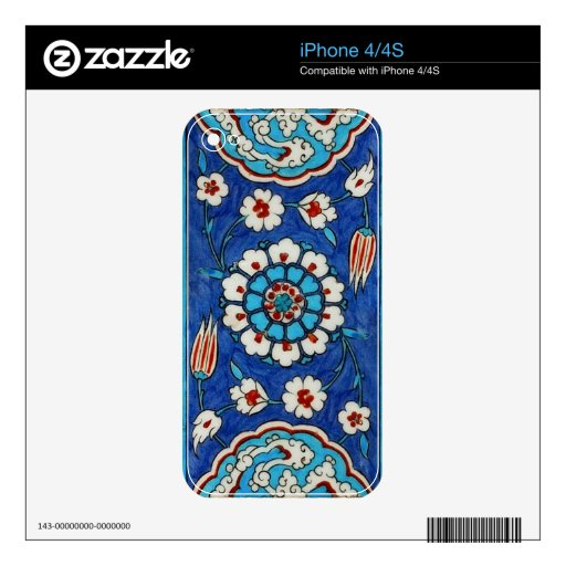 iznik tile decal for iPhone 4