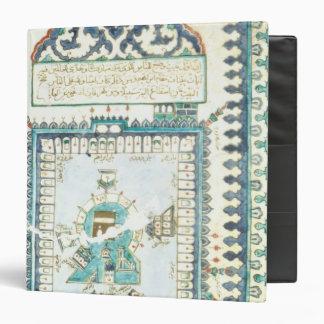 Iznik tile with a representation of Mecca 3 Ring Binder