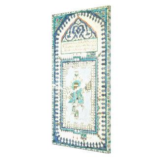 Iznik tile with a representation of Mecca Canvas Prints