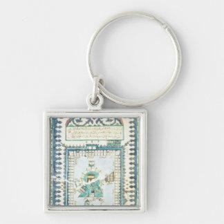 Iznik tile with a representation of Mecca Keychain