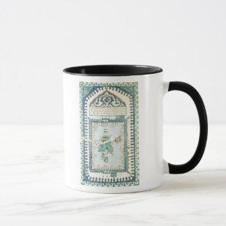 Iznik tile with a representation of Mecca Mug