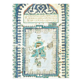 Iznik tile with a representation of Mecca Postcard